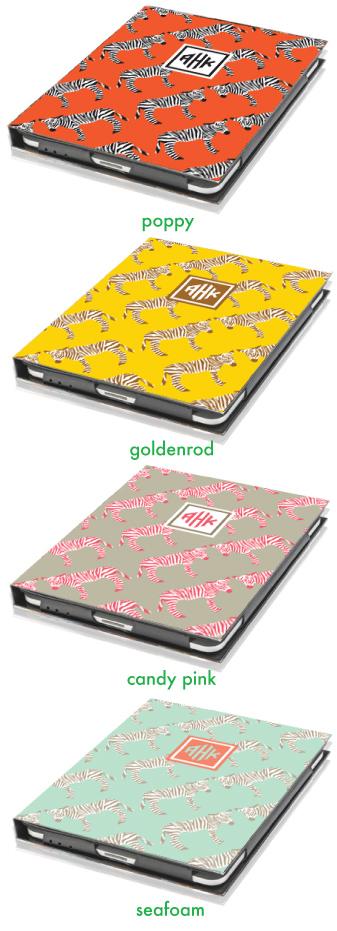 Zebra Monogrammed iPad Case